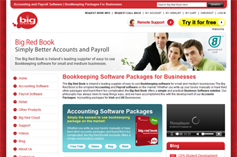 Website preview image for: Big Red Book - Business Software for Bookkeeping