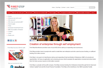 Website preview image for: First Step | Business Support
