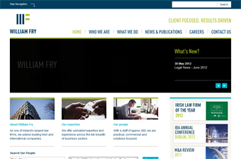 Website preview image for: William Fry - Corporate Law Firm
