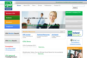 Website preview image for: Institute of Certified Public Accountants Ireland (CPA)