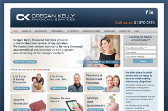 Website preview image for: Cregan Kelly Financial Services