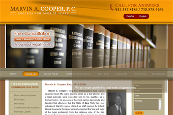 Website preview image for: Accident Lawyer NYC