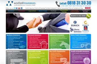 Website preview image for: Wexford Insurances Ltd