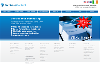 Website preview image for: Purchase Control