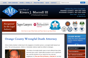 Website preview image for: Wrongful Death Lawyer Mission Viejo