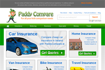Website preview image for: Paddy Compare