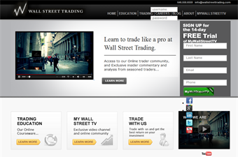 Website preview image for: Wall Street Trading, day trading courses