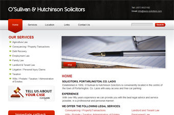 Website preview image for: Laois Solicitors