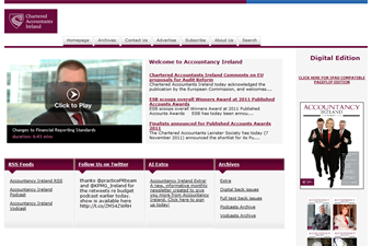 Website preview image for: Accountancy Ireland