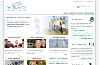 Website preview image for: JDM Financial Services