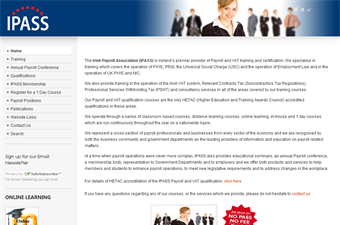 Website preview image for: The Irish Payroll Association (IPASS)