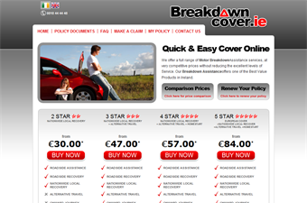 Website preview image for: Breakdown Cover - Ireland