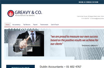 Website preview image for: Greavy & Co. Accountants